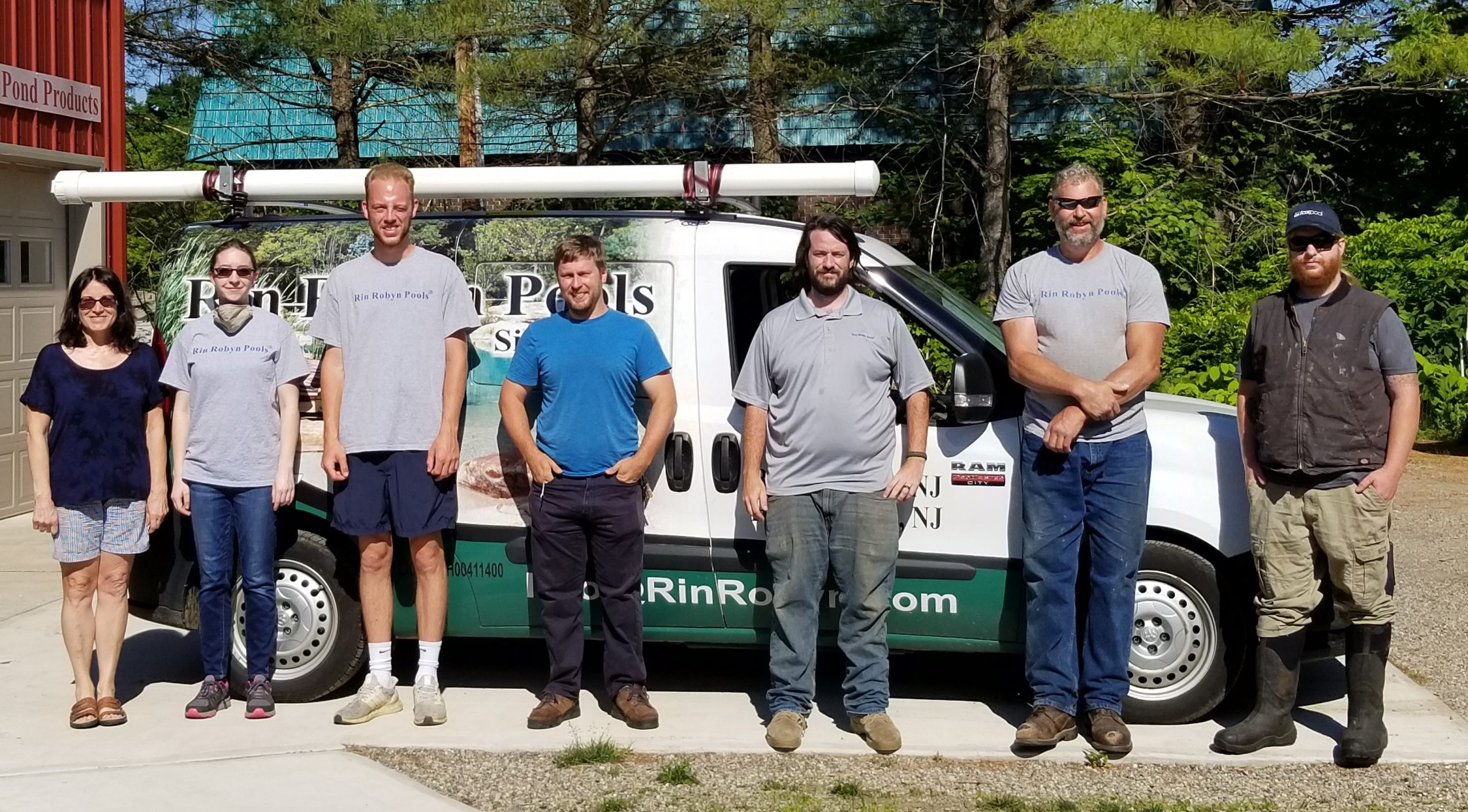 The Rin Robyn Pools service and maintenance team