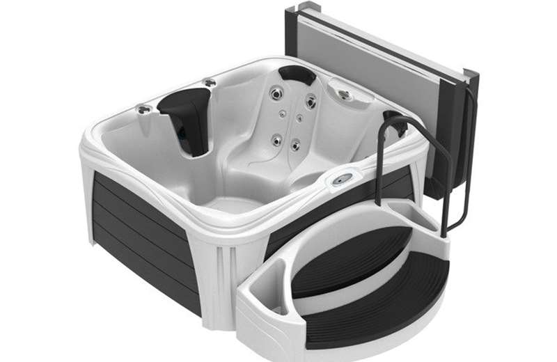 Jacuzzi® Vibe™ Rectangle shown with optional Suite Package